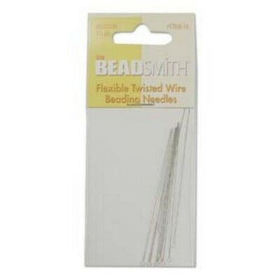 Beadsmtih Flexible Twisted Wire Beading Needles - Medium - 10 Needle pk