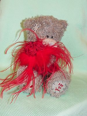 Me To You peluche ourson 20 cm assis *-* ROSES *-* rouges et plumes