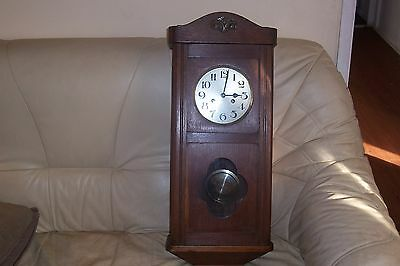 edwardian oak wall clock    (REDUCED)