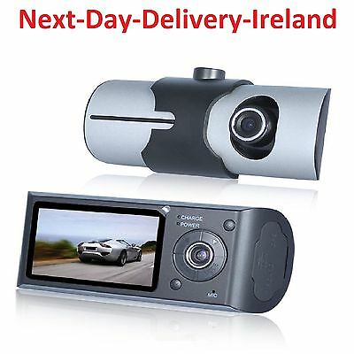 HD 1080P Dual lens LCD Car DVR Night Vision Rear View Dash Camera Recorder