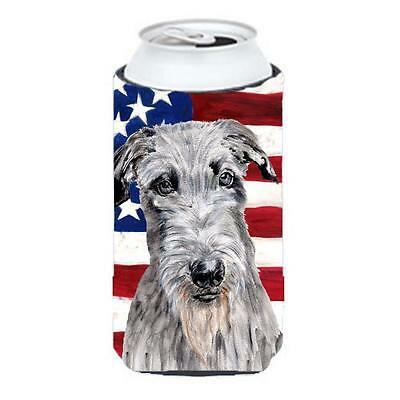Scottish Deerhound With American Flag Usa Tall Boy bottle sleeve Hugger 22 To...