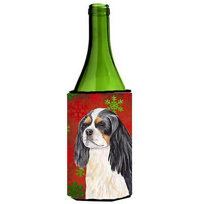 Cavalier Spaniel Snowflakes Holiday Christmas Wine Bottle Hugger 24 oz.