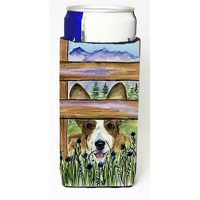Carolines Treasures Corgi Michelob Ultra bottle sleeves For Slim Cans 12 oz.