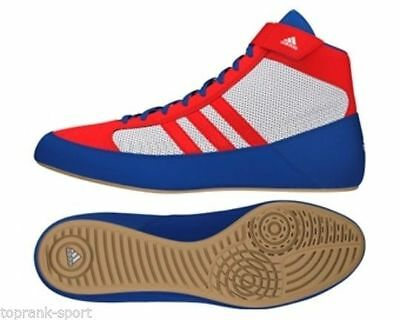 Adidas Havoc Red/White/Blue Wrestling Boxing Shoes Boots -Unisex Mens Womens