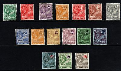 Antigua 1921-29 set of 16 SG62-80 Fine Lightly Mtd Mint