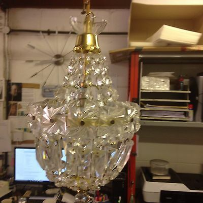 Purse Style Vintage Crystal Chandelier