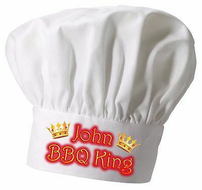 Personalised  BBQ Chef Hat  Great Christmas gift Full colour printing