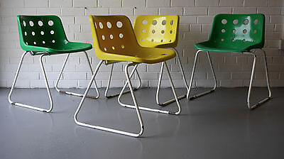 Robin Day for Hille set of 4 polo chairs c1975 (Heals-Danish-Mid-Century-G-Plan)