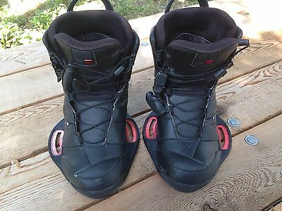 Used 2012 Ronix Cell Wakeboarding Bindings Boots Size US 9