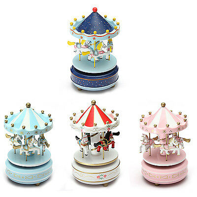 Musical carousel horse wooden carousel music box toy child baby BF