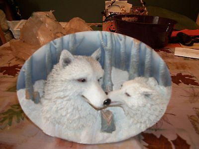 3D Wolf Plate Decoration