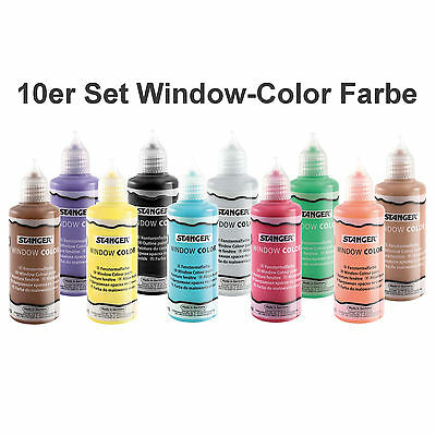 (100ml=2,33EUR) 10 Stück Wunschauswahl Window Color Farbe Glasmalfarbe 80 ml