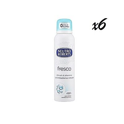 6x NEUTRO ROBERTS Fresco deo spray deospray deodorant Fresh 125 ml ohne Alkohol