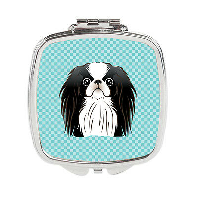 Carolines Treasures  BB1168SCM Checkerboard Blue Japanese Chin Compact Mirror