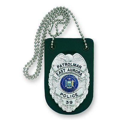 Strong Leather 71900-0002 Black Undercover Necklace Badge Holder w/ Chain