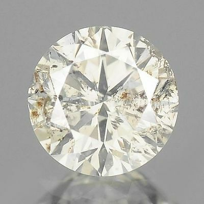 0.30cts 4.2mm  Rare Round Fancy Off White Natural Diamonds