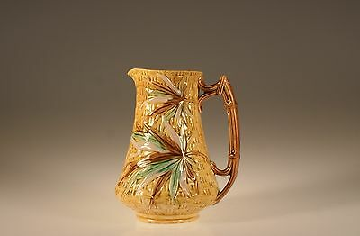Early Staffordshire  Majolica Bamboo Leaf Milk Pitcher, England