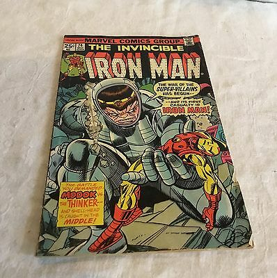 Vintage Marvel Comics Group The Invincible Iron Man Comic Book 74 May 02454