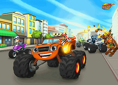 Unofficial BLAZE AND THE MONSTER MACHINES (3) *Glossy* A4 print Poster - Peppa