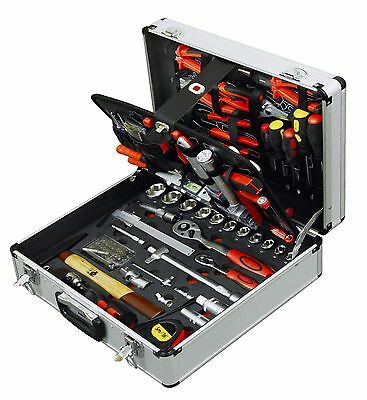 127pcs Master Tool Kit in Aluminium Box Toolkit Set Case Mechanic Household Home