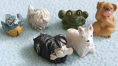 Small Bundle of Vintage PETER FAGAN Miniature Hand Painted ANIMAL Figures