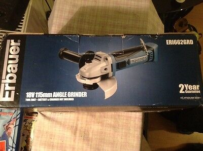 erbauer 18v 15mm angle grinder new (only body)