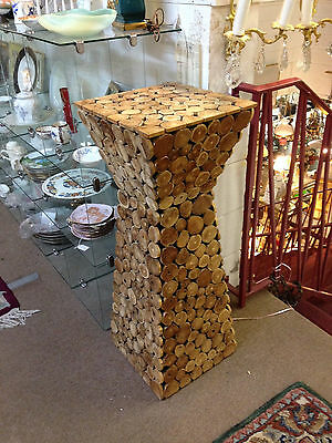 Totally Funky Wood Slice Pedestal