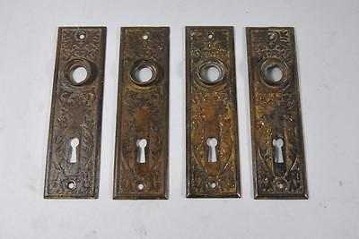 2 Pair Of Antique Eastlake Door Back Plates