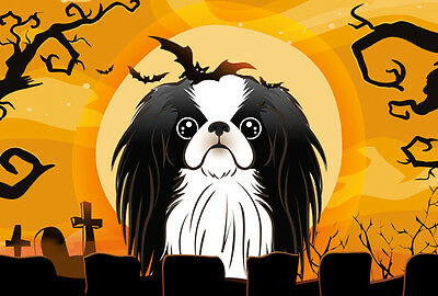 Carolines Treasures  BB1788PLMT Halloween Japanese Chin Fabric Placemat