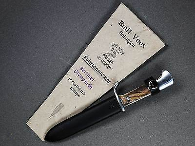Emil Voos 1936 Olympic Souvenir Knife with issue Bag, Special Edition and RARE!