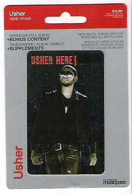 Usher Here I Stand Platinum Musicpass Digital Download Card Ipod Mp3