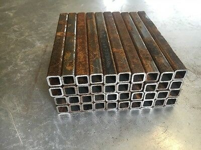 "1/2"" X 5"" L X 1/16"" Steel Square Tube Welding Arts Crafts Vintage Rusty 40 Pcs"
