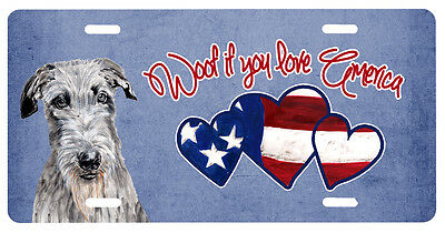 Woof if you love America Scottish Deerhound License Plate