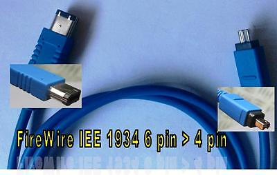 CABLE FIREWIRE IEE 1934 6 PIN  a 4 PIN 1m. DF-640