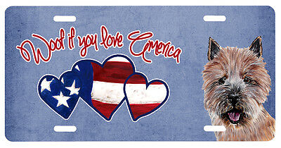 Woof if you love America Norwich Terrier License Plate