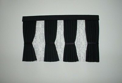 Dolls House Curtains Black Inside Bay