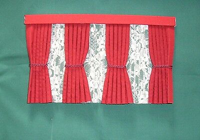 Dolls House Curtains Red  Inside Bay