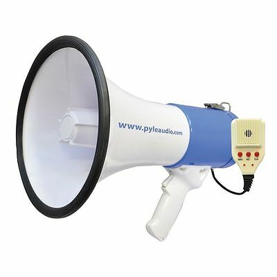 Pyle PMP59IR 50W Megaphone W/ Record & Rechargeable Battery iPod/MP3 Input