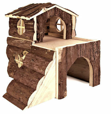 Cute little Play House With Real Wood for Hamster Mice Mouse by TRIXIE
