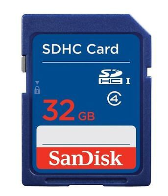 Genuine SanDisk 32GB SD SDHC Memory Card Class 4 Digital Camera & Camcorder UK