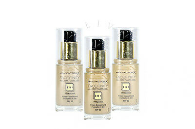 Max Factor Facefinity Flawless 3In1 Foundation - Choose Shade - | Rrp £17.50 |