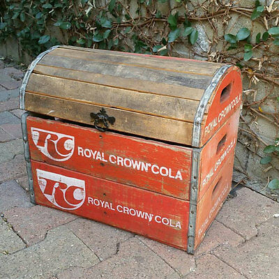 """Vintage RC Cola wood soda crate chest trunk  """"LOCAL PICK UP ONLY"""""""