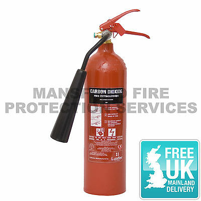 Fire Extinguisher CO2 Carbon Dioxide 2KG with Bracket and FREE DELIVERY