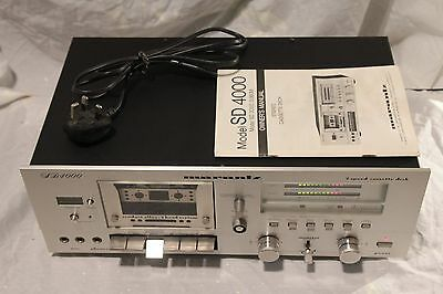 MARANTZ SD4000 vintage two speed 3head cassette deck player  SERVICED VGC