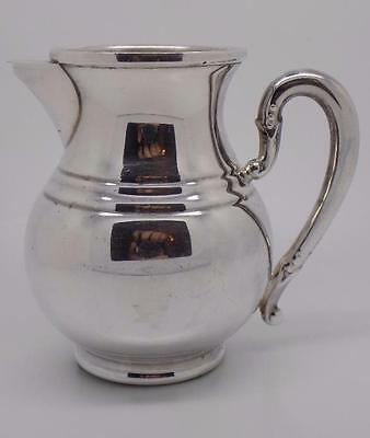 Vintage Solid Silver Heavy Quality Modern Style Cream / Milk Jug - Stamped