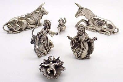 CHRISTMAS 2016 Vintage Solid Silver Nativity - STUNNING - Stamped - Italian Made