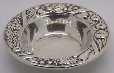 Vintage Solid Silver Florence (IT) Decorated Medium Size Bowl / Dish - Stamped