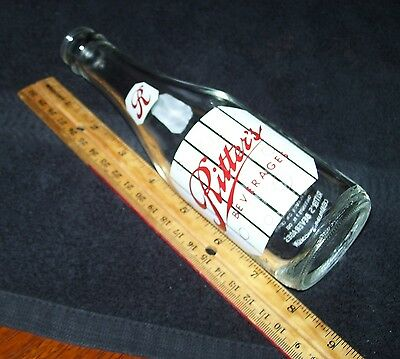 Ritter's Beverages~Cedarburg Wisconsin~Soda Bottle~7 Oz~Clear Glass