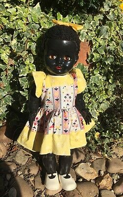 "1950s Vintage Pedigree ""African Walking Doll"" in Original Dress"