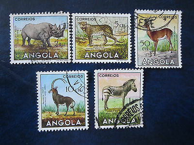 """Angola Stamps   Africa    1953 Used Lot """"animals"""""""